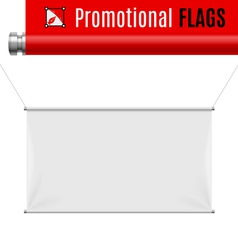 Promotional flag vector