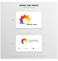 Abstract Creative Business Cards Design Template vector image