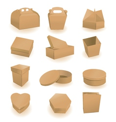Cardboard packaging vector