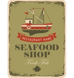 Restaurant or seafood shop vector