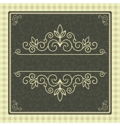 Vintage card with frame for cover or invitation vector