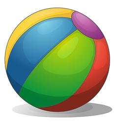 A colorful beach ball vector image vector image