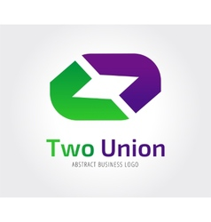 Abstract union logo template for branding vector