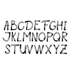 alphabet letters collection text black lettering vector image