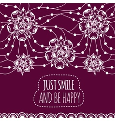 Banner Just smile and be happy vector image vector image