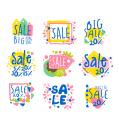 Big sale set for label design sale shopping vector
