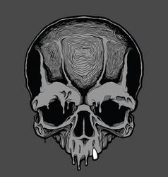 Cartoon decorative human skull vector