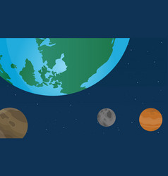 Collection earth day with world on space vector