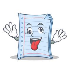 Crazy notebook character cartoon design vector