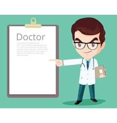 Doctor smart presenting vector