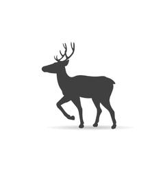emblem monochrome deer vector image vector image