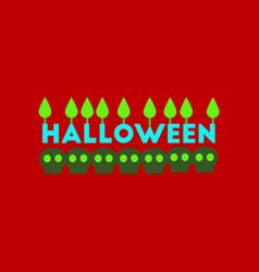 Flat icon on stylish background candle halloween vector