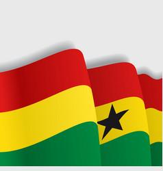 Ghana waving flag vector