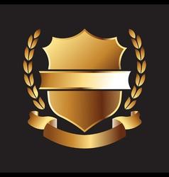 Gold emblem vector