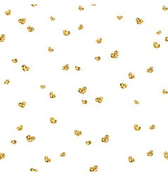 Golden hearts seamless pattern 4 white vector image