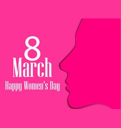 happy womens day greeting card 8 march vector image