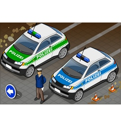 Isometric german police car vector