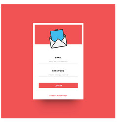 Log in box ui design vector