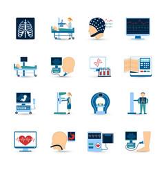 Medical examination icons set vector