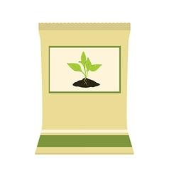 Paper bag with fertilizer vector