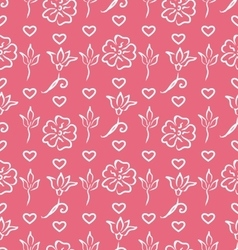 Pink Ornate Seamless Wallpaper for Valentines Day vector image