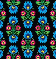 Seamless traditional floral polish folk pattern vector