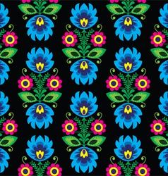Seamless traditional floral polish folk pattern vector