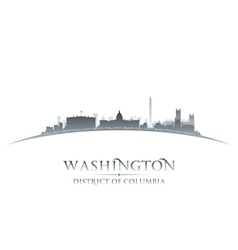 Washington DC city skyline silhouette vector image