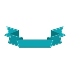 ribbon banner blue design icon vector image