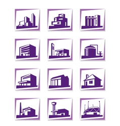 Different types of construction vector image