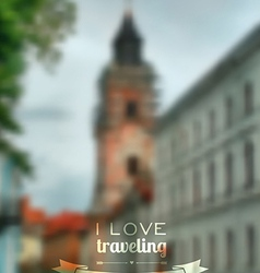 Blurred traveling city background web and mobile vector
