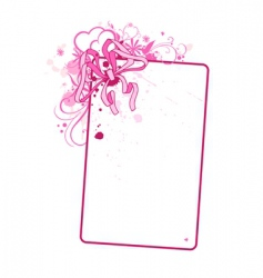 vertical card with bow vector image