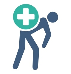 Medication courier icon vector