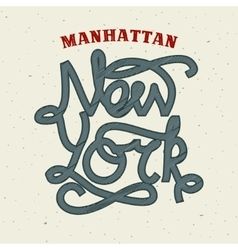 New york lettering print template vector