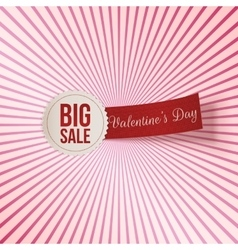 Valentines day big sale label and red tag vector