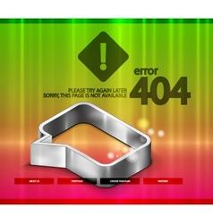 404 error web page vector image
