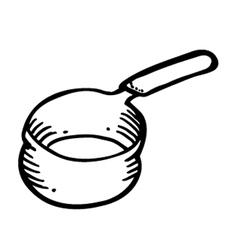 pan doodle vector image