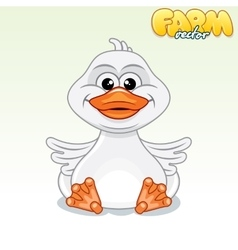 Cute Cartoon Duck vector image
