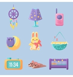 Baby bedroom decoration set vector