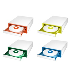 A colorful set of disk drive vector