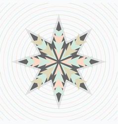 abstract pastel circles pattern with star emblem vector image vector image