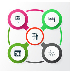 Administration icons set collection of solution vector