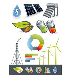 Alternative energy sources vector image vector image