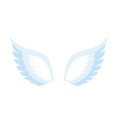 Angel wings isolated feathers of bird on white vector
