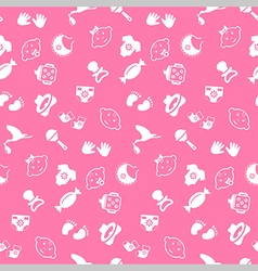 Baby seamless pattern background vector