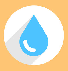 Blue water drop sign circle icon vector