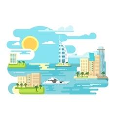City beach design flat vector image vector image