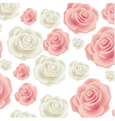 colorful pattern bud roses floral design vector image