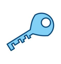 Door key isolated vector