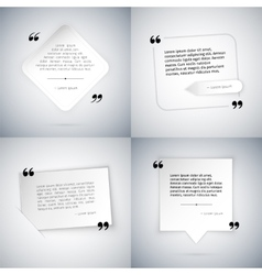 Four Simple Quote Templates vector image